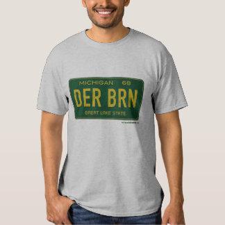 La camiseta de los hombres de la placa de Dearborn Playera