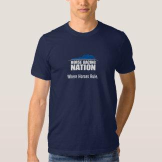 La camiseta de los hombres de la regla de los poleras