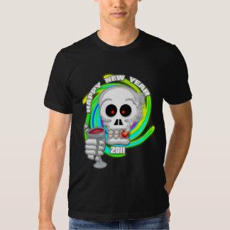 La camiseta de los hombres de la tostada del Año Camisas