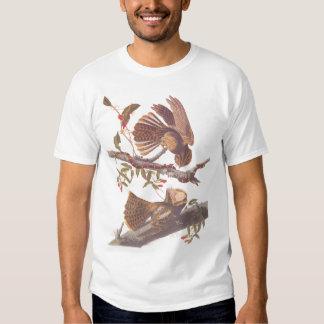 La camiseta de los hombres de los pájaros de la polera
