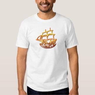 La camiseta de los hombres del barco de vela camisas