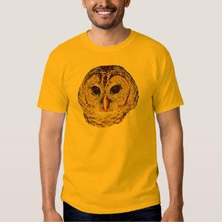 La camiseta de los hombres del búho barrado playeras
