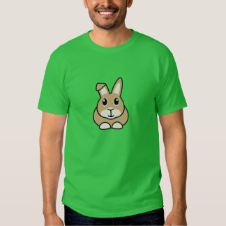 La camiseta de los hombres del conejo del dibujo playera