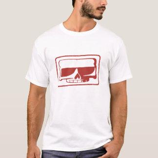 La camiseta de los hombres del cráneo del sello de