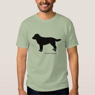 La camiseta de los hombres del labrador retriever playera