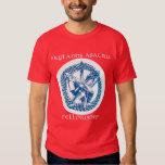 La camiseta de los hombres del logotipo de la poleras