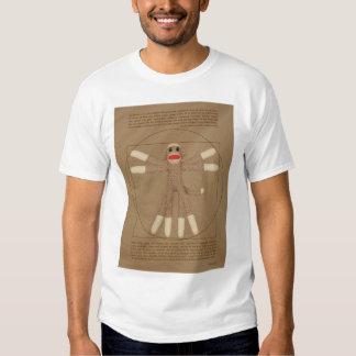 La camiseta de los hombres del mono de Vitruvian Playeras