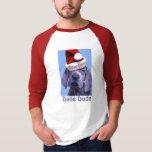 La camiseta de los hombres del navidad del perrito