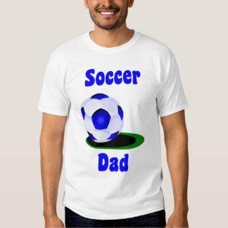 La camiseta de los hombres del papá del fútbol poleras