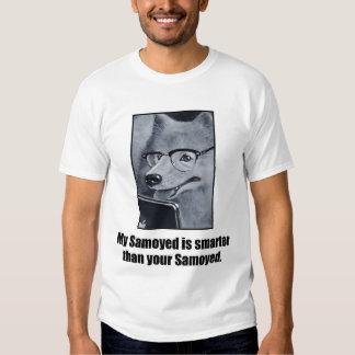 La camiseta de los hombres del perro del samoyedo playera