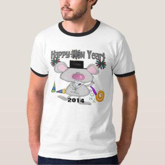 La camiseta de los hombres del ratón del Año Nuevo Polera