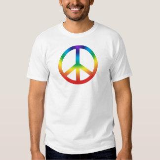 La camiseta de los hombres del signo de la paz de poleras