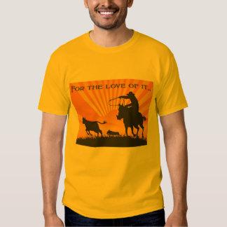 La camiseta de los hombres del vaquero del Corgi Playera