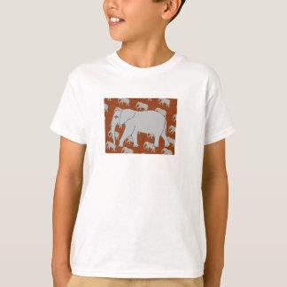 La camiseta de los hombres elegantes del elefante