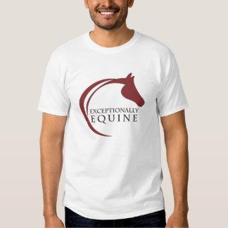 La camiseta de los hombres excepcionalmente equino playera