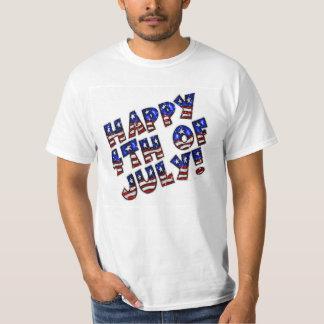 La camiseta de los hombres/feliz el 4 de julio remeras