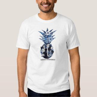 La camiseta de los hombres florales del logotipo playeras