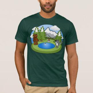 La camiseta de los hombres lindos de la fauna