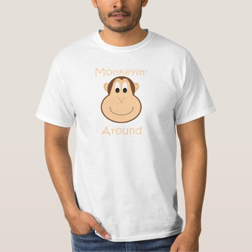 La camiseta de los hombres lindos del chimpancé playeras