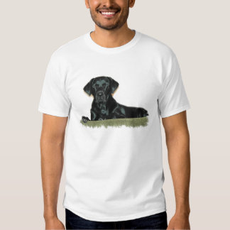 La camiseta de los hombres negros del laboratorio playeras