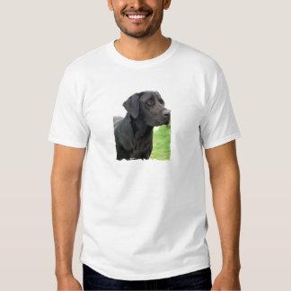 La camiseta de los hombres negros del labrador ret playeras