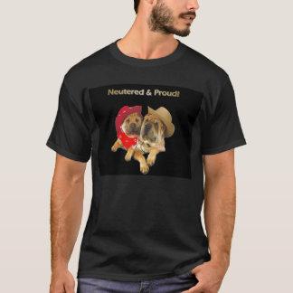 la camiseta de los hombres neutralizados y