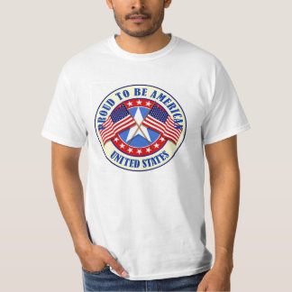 La camiseta de los hombres/orgulloso ser americano playeras