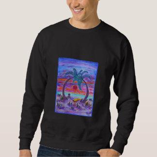 La camiseta de los hombres - piel de ante en la suéter