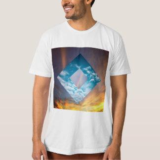 La camiseta de los hombres porta del cielo remera
