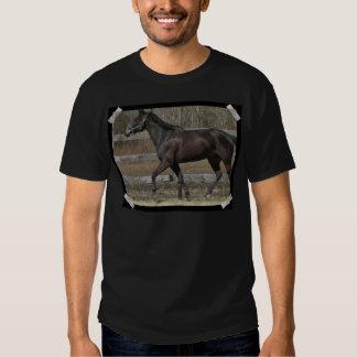 La camiseta de los hombres Prancing excelentes Playera