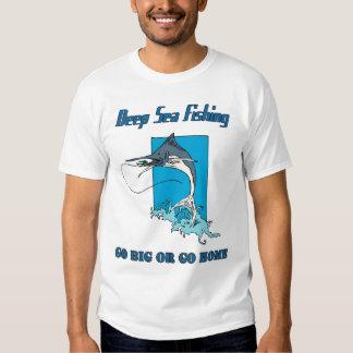 La camiseta de los hombres profundos de la pesca remeras