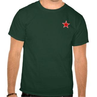 La camiseta de los hombres rojos de la estrella de