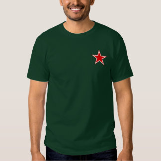 La camiseta de los hombres rojos de la estrella de remera