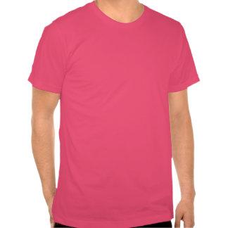 La camiseta de los hombres rosados felices dobles