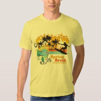 La camiseta de los hombres tropicales frescos de playera