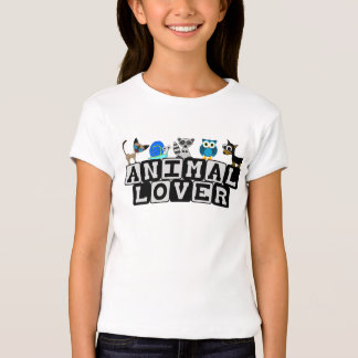 La camiseta de los niños animales del amante