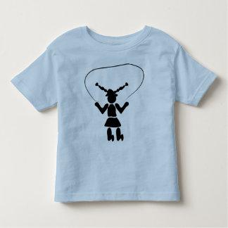 La camiseta de los niños de la comba playeras