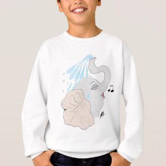 La camiseta de los niños de la ducha del elefante playera