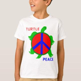 La camiseta de los niños de la paz de la tortuga
