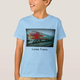 La camiseta de los niños de los trenes de los camisas