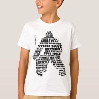 La camiseta de los niños del arte de la palabra