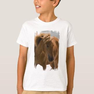 La camiseta de los niños del diseño del caballo de remeras
