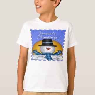La camiseta de los niños del muñeco de nieve de polera