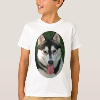 La camiseta de los niños del perro de trineo remeras