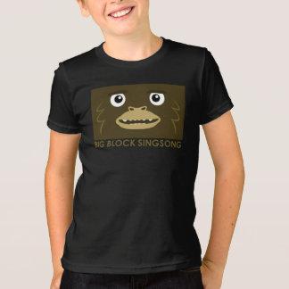 La camiseta de los niños grandes del pie de BBSS