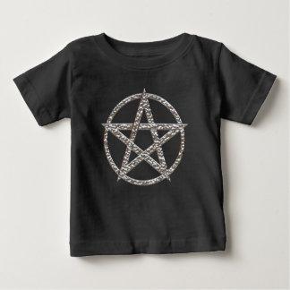 La camiseta de los niños martillados Pentagram del Poleras