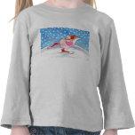 La camiseta de los niños patinadores del ratón