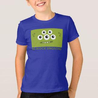 La camiseta de los niños verdes de Dah de la