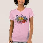 La camiseta de los Wildflowers de las mujeres boni