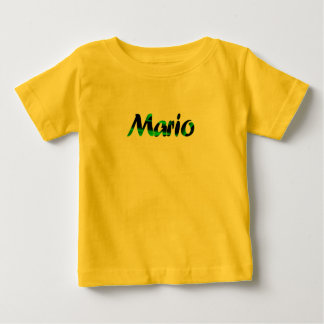 La camiseta de manga corta amarilla de Mario Playera Para Bebé